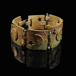Bronze cuff bracelet. Jewelry design and fabrication by Stran Rosier.